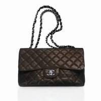 Chanel Jumbo Caviar Dark Brown Angle1
