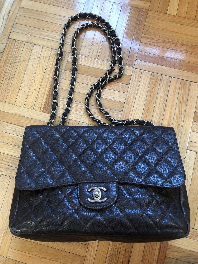 Chanel Jumbo Caviar Dark Brown