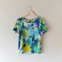 Kate Spade Watercolor Silk Top Blouse