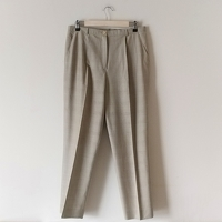 Escada Check Print Pleated Suit Trousers