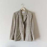 Escada Check Print Suit Blazer Jacket