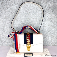 Gucci small white Sylvie Bag Angle1