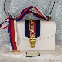 Gucci small white Sylvie Bag Angle2