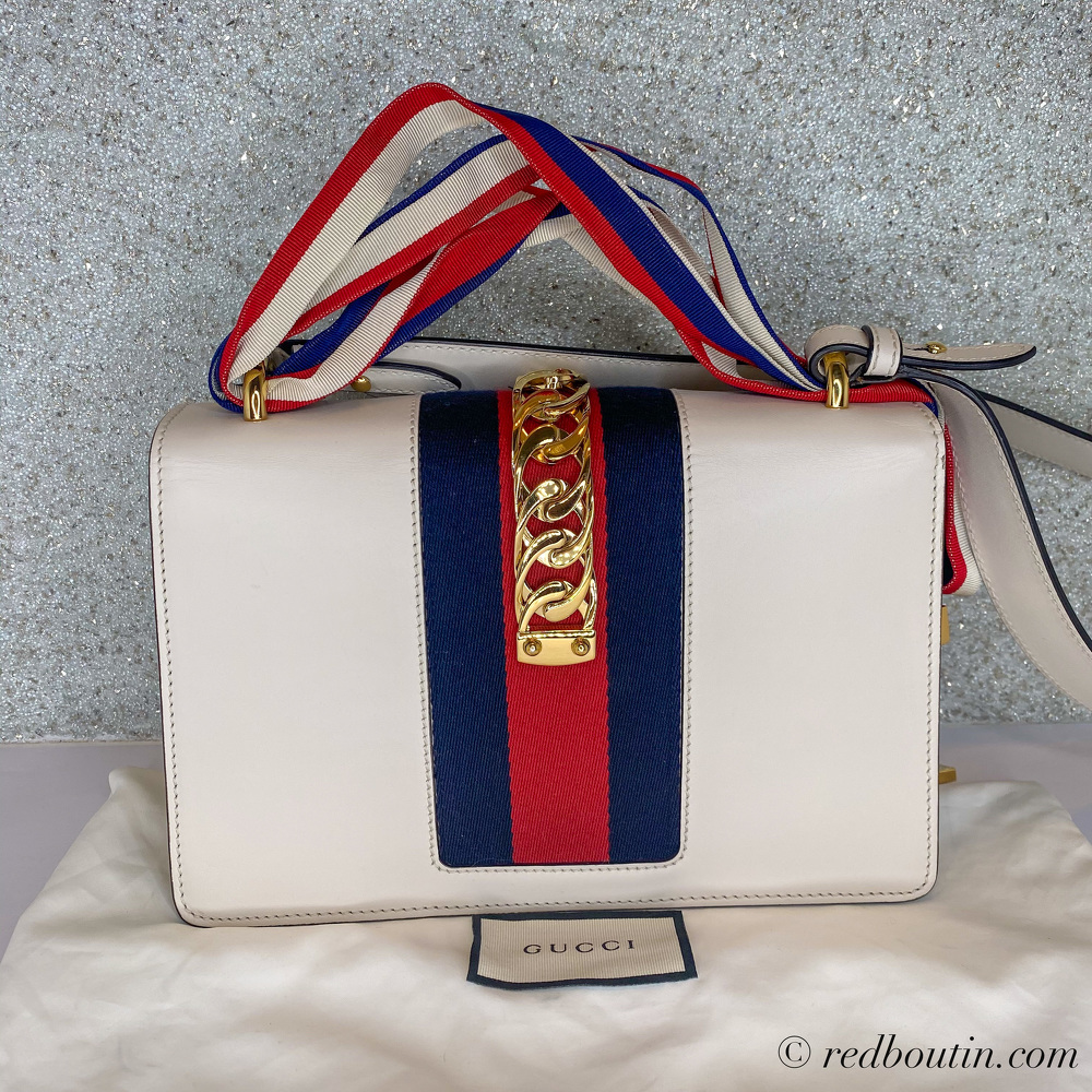 Gucci small white Sylvie Bag