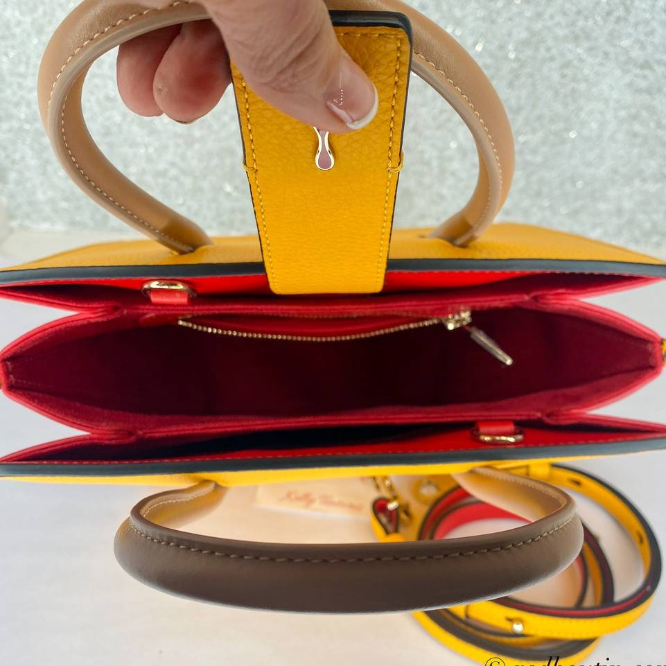 Christian Louboutin Paloma embroidered yellow tote