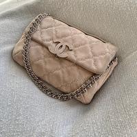 Chanel Quilted Nubuck Medium Flap
