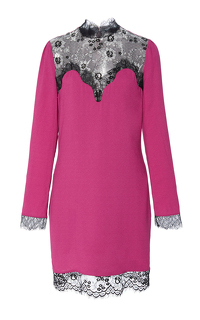 Carven Pink Lace Panel Dress