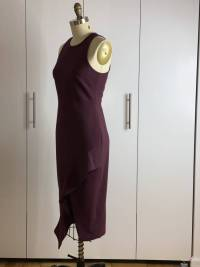 Cinq A Sept Dress Purple Size 6 ruffle split Angle3