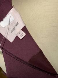 Cinq A Sept Dress Purple Size 6 ruffle split Angle4