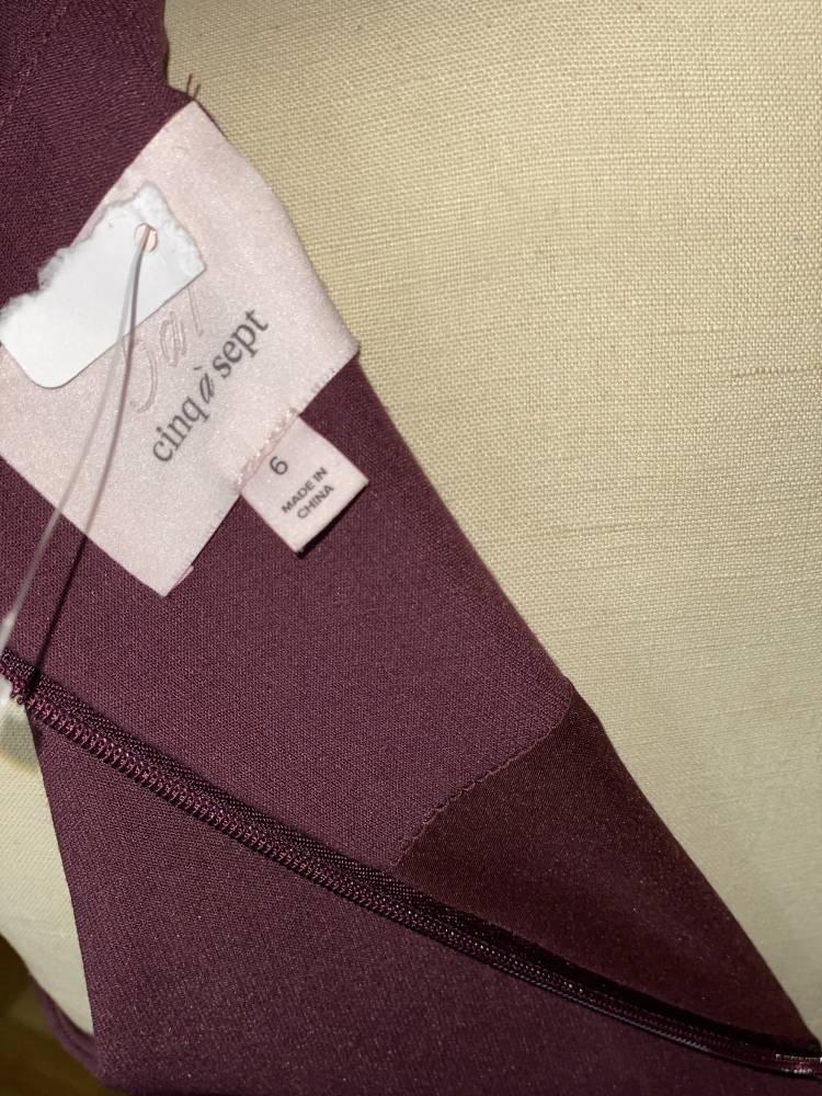 Cinq A Sept Dress Purple Size 6 ruffle split