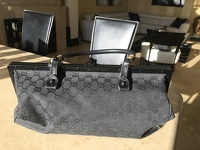 Stunning large Gucci black bag