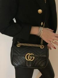 GG Gucci Marmont small matelassé shoulder bag Angle2