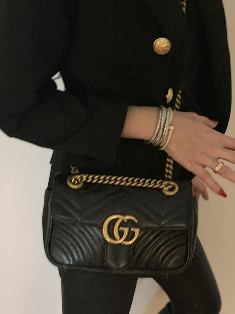 GG Gucci Marmont small matelassé shoulder bag