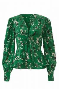 Veronica Beard Womens floral print blouse in gree