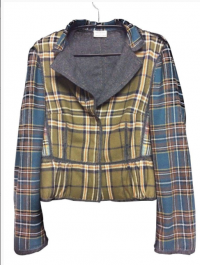 Philosophy by Alberta feretti wool plaid blazer