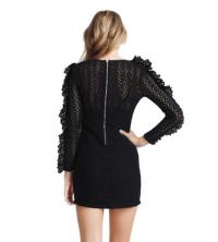 Alice McCall Black Magic Woman Crochet Mini Dress Angle2