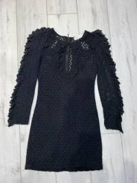 Alice McCall Black Magic Woman Crochet Mini Dress Angle3