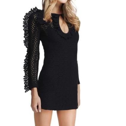 Alice McCall Black Magic Woman Crochet Mini Dress