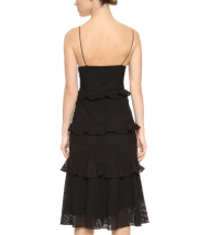 Cushnie Black Eyelet lace Sofia Dress V-neck sz 8 Angle2