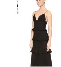 Cushnie Black Eyelet lace Sofia Dress V-neck sz 8 Angle3