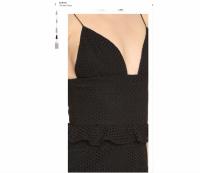 Cushnie Black Eyelet lace Sofia Dress V-neck sz 8 Angle4