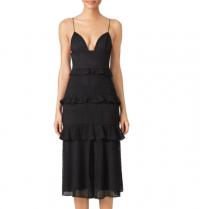 Cushnie Black Eyelet lace Sofia Dress V-neck sz 8 Angle5