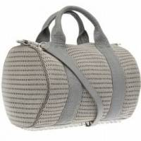 Alexander Wang mesh gray Rocco bag.