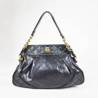 Marc Jacobs Black Leather Hobo Shoulder Bag