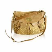Miu Miu suede basket weave handbag