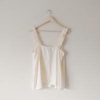 Marc By Marc Jacobs NWOT Silk Ruffle Strap Cami Angle2