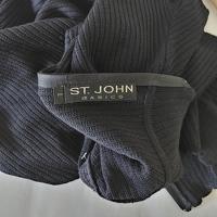 St. John Basics Santana Knit Mockneck Ribbed Top Angle3