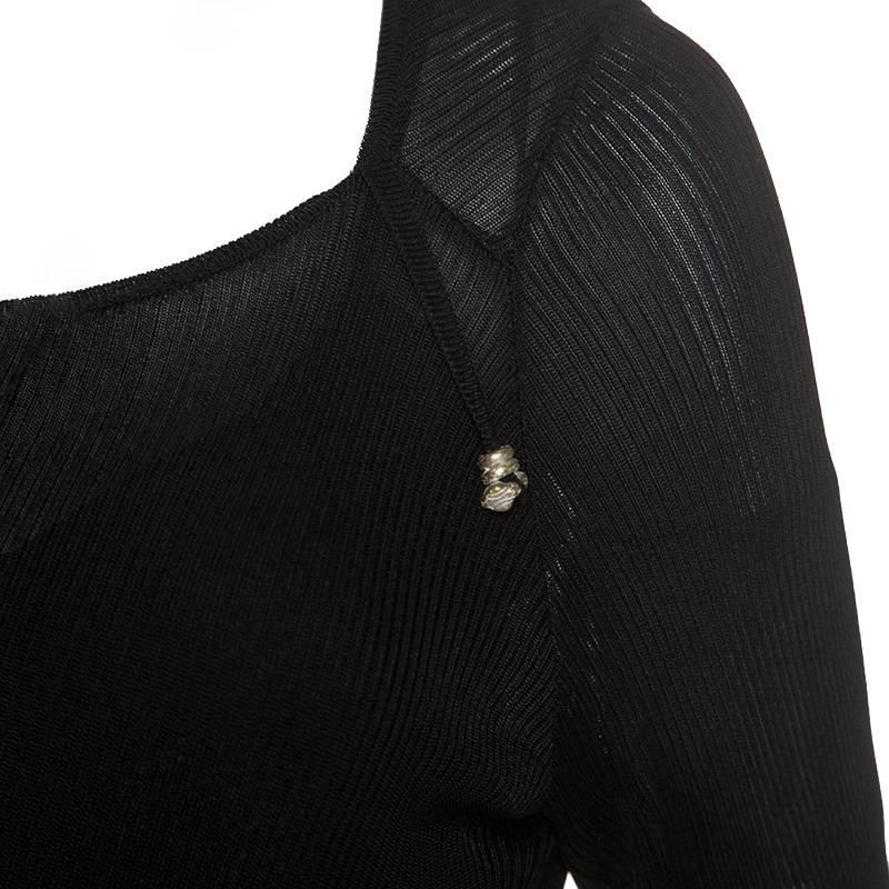 Just Cavalli Sheer Asymmetric dress