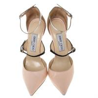 Jimmy Choo Beige Silver Leather pumps Angle3