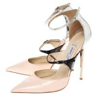 Jimmy Choo Beige Silver Leather pumps Angle6