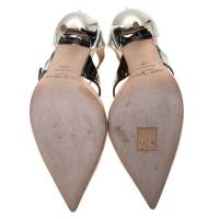 Jimmy Choo Beige Silver Leather pumps Angle7