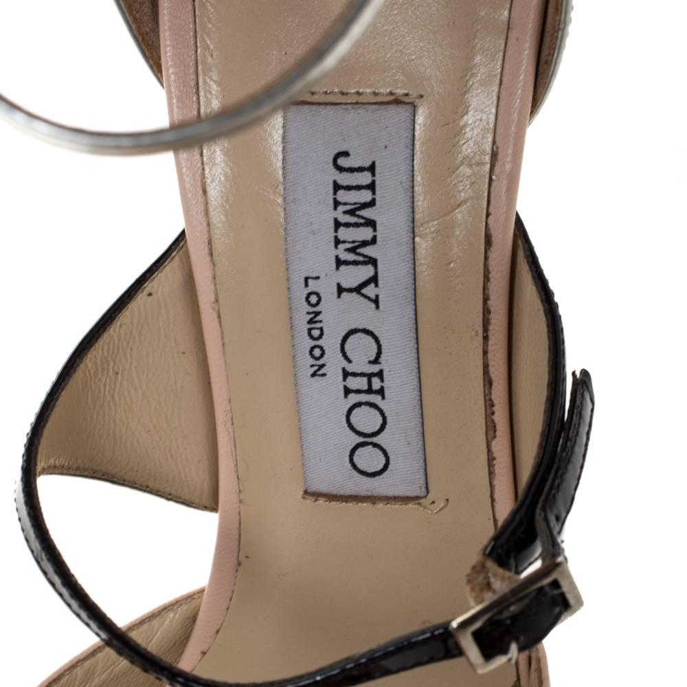 Jimmy Choo Beige Silver Leather pumps