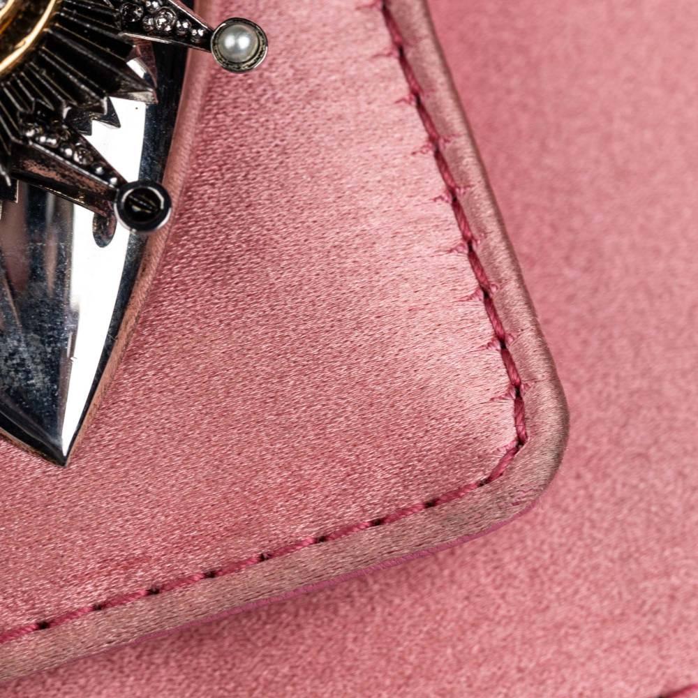 Alexander McQueen Satin shoulder clutch