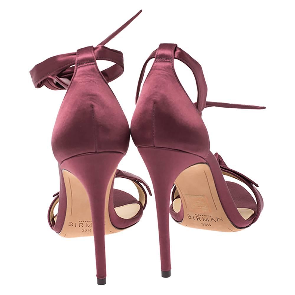 Alexandre Birman satin bow sandals