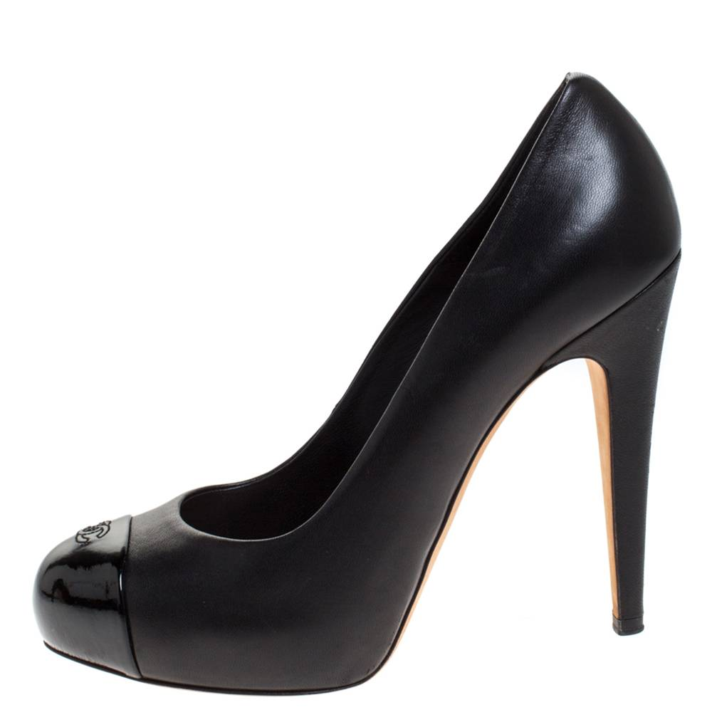 Chanel classic platform PUmps