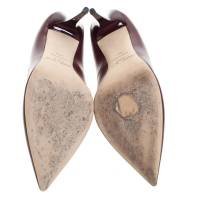 Jimmy Choo Wine pumps with tongue cutout front Angle2