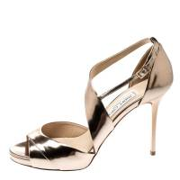 Jimmy Choo gold sandals  Angle2