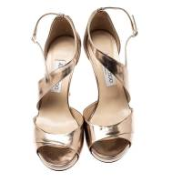 Jimmy Choo gold sandals  Angle3