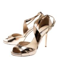 Jimmy Choo gold sandals  Angle4