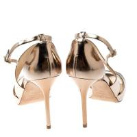 Jimmy Choo gold sandals  Angle6