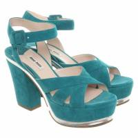 Suede green Missoni platforms Angle3