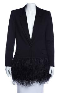 Elizabeth and James Ostrich trim jacket