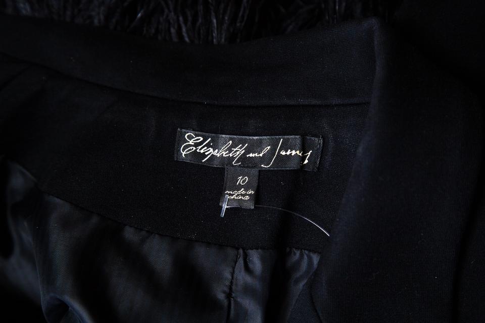 Elizabeth and James Ostrich trim jacket