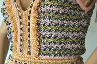 Missoni Lurex Metallic Crochet Fringe V-Neck New Angle5