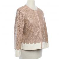 Tory Burch perforated leather eyelit lace coat