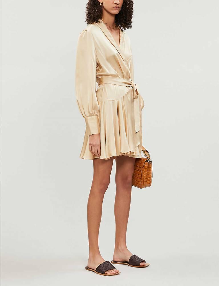 Zimmerman Silk wrap dress 2019 collection hot!!